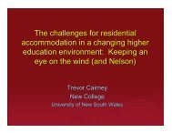 The challenges for residential accommodation in ... - trevorcairney.com