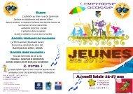 Accueil loisir 12-17 ans - Ville de Lavernose-Lacasse