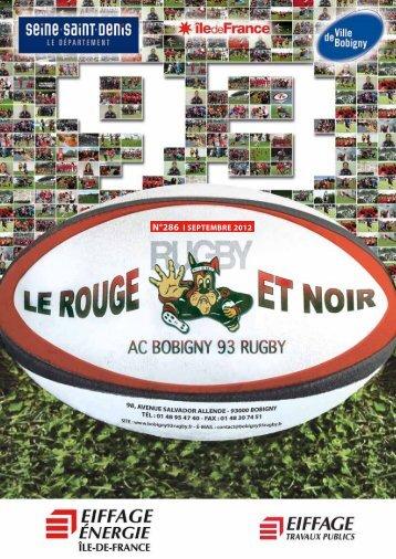 N°286 l SEPTEMBRE 2012 - AC Bobigny 93 Rugby