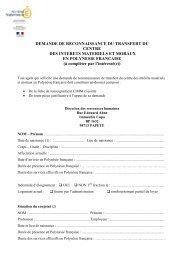Formulaire dde CIMM 2010 - Vice-rectorat de Polynésie française