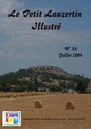 Petit Lauzertin n°58 - Juillet 2004 - Lauzerte