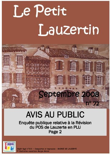 Petit Lauzertin n°72 - lauzerte.fr