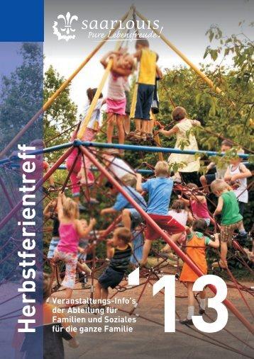 Programm Herbstferientreff 2013 - Saarlouis