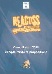 rapport de la consultation - Fédération Nationale des Joinvillais