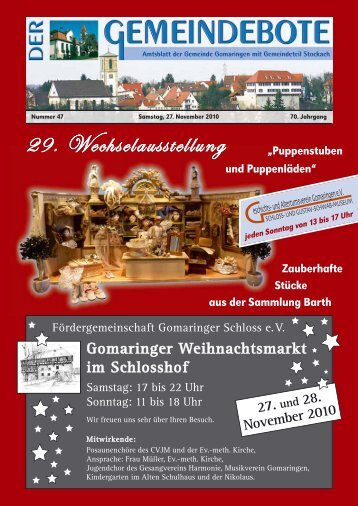 Gomaringen 27.11.10.pdf - RegioMedia Verlag