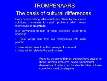 The basis of cultural differences - [cim.dcg.ibs.iscte.pt]ISCTE ...