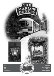 Donkey 97 Sept 2001 - Marlow & District Railway Society