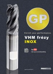 VHM frézy INOX - PRECITOOL CZ