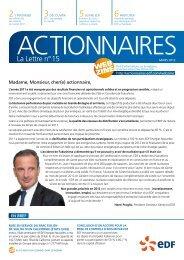 la lettre n° 15 - Finance - EDF