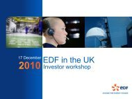 EDF Energy - Finance