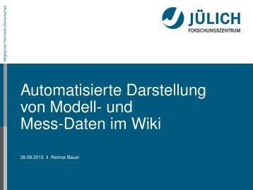 Automatisierte Darstellung von Modell- und Mess-Daten im Wiki