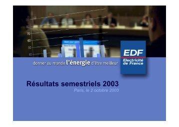 Télécharger la présentation (02/10/2003) (pdf, 223 Ko) - EDF