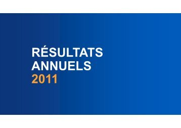 Résultats 2011 - Finance - EDF