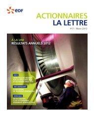 Lettre aux Actionnaires - Finance - EDF