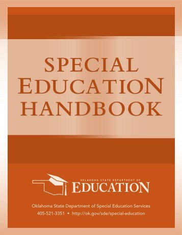 Special Education Handbook - Cooperative Council for Oklahoma ...