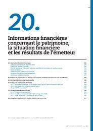 Informations financières concernant le patrimoine ... - Finance - EDF