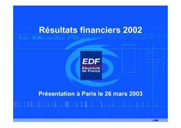 Télécharger la présentation (26/03/2003) (pdf, 263 Ko) - EDF