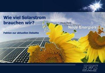 Wie viel Solarstrom brauchen wir?