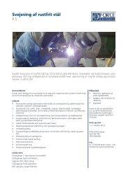 Svejsning af rustfrit stål - f.metal-supply.dk