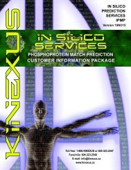 (IPMP) Services Customer Information Package - Kinexus ...