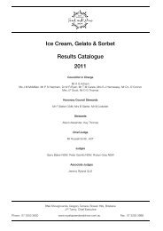 Ice Cream, Gelato & Sorbet Results Catalogue 2011 - the RNA