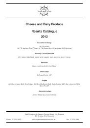 Cheese and Dairy Produce Results Catalogue 2012 - the RNA
