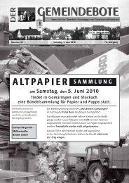 Ausgabe :Gomaringen 05.06.10.pdf - Gomaringer Verlag