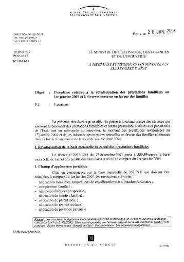 Circulaire relative à la revalorisation des ... - Ape.bercy.gouv.fr