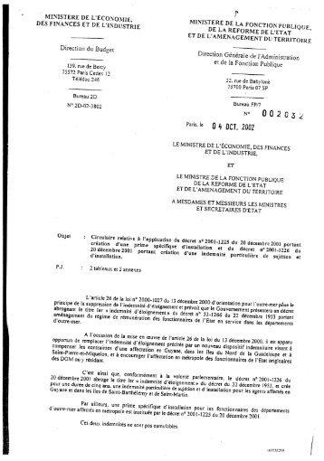 Circulaire relative à l'application du décret n ... - Ape.bercy.gouv.fr