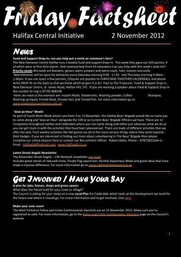 Friday Factsheet 2 November 2012 - Halifax Central Initiative