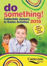 Calderdale January to Easter Activities 2013 - Halifax Central Initiative