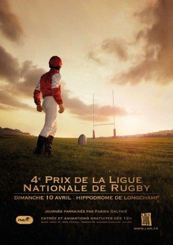 Dossier de presse Grand prix LNR/PMU du 10 avril 2011