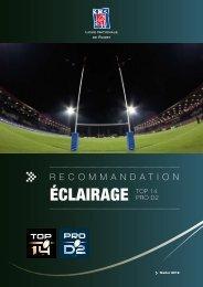 Recommandations éclairage - Ligue Nationale de Rugby