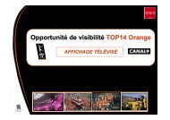 Timing LED TOP14 Orange - Ligue Nationale de Rugby