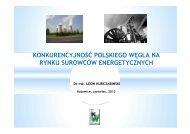 konkurencyjność polskiego węgla na rynku surowców energetycznych