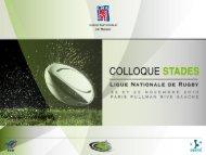 Les Collectivités locales et les stades. - Ligue Nationale de Rugby
