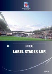 Guide Label Stades LNR - Ligue Nationale de Rugby