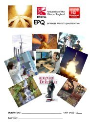 epq extended project qualification