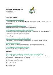 Science Websites for Teachers - Downend School