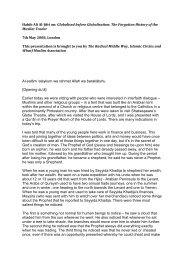 PDF Transcription Habib Ali Al-Jifri - Radical Middle Way