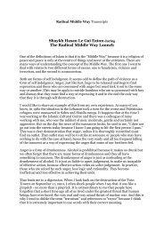 PDF Transcription Shaykh Hasan Le Gai Eaton - Radical Middle Way