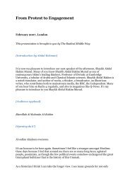 PDF Transcription Yusuf Islam - Radical Middle Way