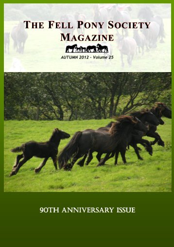 2012 Autumn - The Fell Pony Society