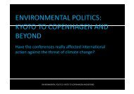 Environmental Politics : Kyoto to Copenhagen and beyond