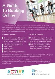 A Guide To Booking Online - North Country Leisure