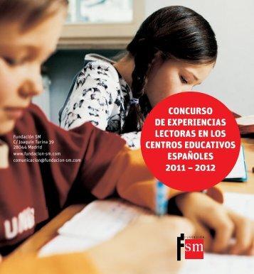 concurso de experiencias lectoras en los centros ... - Fundación SM