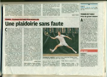 Une plaidoirie sans faute - Tournoi.fft.fr