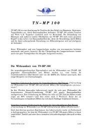 Die Wirksamkeit von TN-MP 100 - Rundum Natur