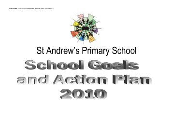 School Goals and Action Plan 2010