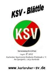 ksv - frühling 2012 - Karlsruher SV